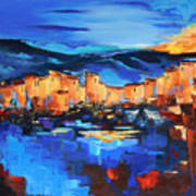 Sunset Over The Village 2 By Elise Palmigiani Art Print