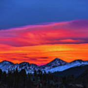 Sunset Over Torreys And Grays Peaks Art Print