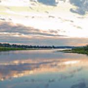 Sunset Over Union Bay Tall Panorama Art Print