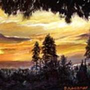 Sunset Over Wrightwood Art Print