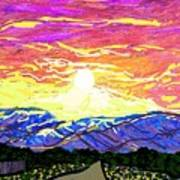 Sunset Pearblossom Highway Art Print