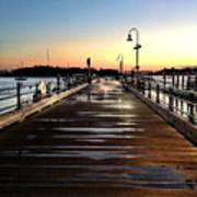 Sunset Pier Print by Extrospection Art