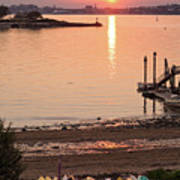 Sunset, Portland, Maine  -07817 Art Print