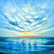 Sunset Quest Blue Art Print