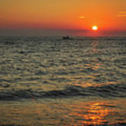 Sunset Ride Cape May Point Nj Art Print