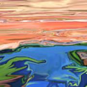Sunset River Art Print
