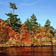 Sunset Rock Art Print