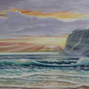 Sunset Romance Art Print