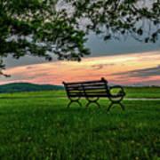 Sunset Seating Art Print