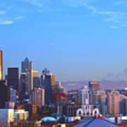 Sunset Seattle Art Print