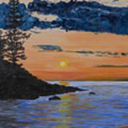 Sunset Series 1 Isle Royale Lake Superior Art Print