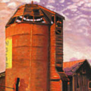 Sunset Silo Art Print