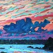 Sunset Snails Art Print