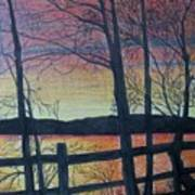 Sunset Somewhere Art Print