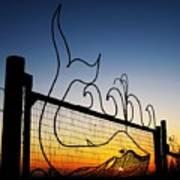 Sunset Spouting Whale Art Print