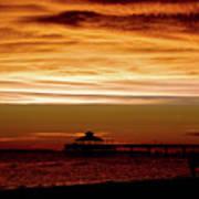 Sunset Stroll Along The Beach 2582 H_2 Art Print