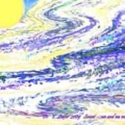 Sunset-sun And Sea Meeting Art Print