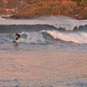 Sunset Surfing Art Print