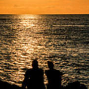 Sunset Together In Key West Art Print
