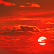 Sunset Art Print by Tony Beck