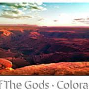 Sunset Tour Valley Of The Gods Utah Pan 09 Text Art Print
