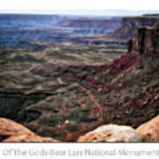 Sunset Tour Valley Of The Gods Utah Text 04 Art Print