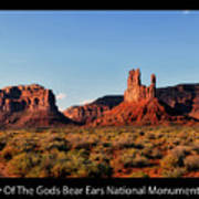 Sunset Tour Valley Of The Gods Utah Text 09 Black Art Print