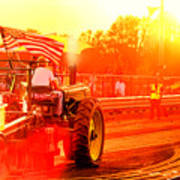 Sunset Tractor Pull Art Print