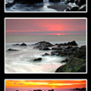 Sunset Triptych Art Print