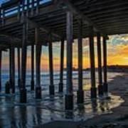 Sunset Under The Ventura Pier Art Print