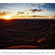 Sunset Valley Of The Gods Utah 11 Text Art Print