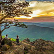 Sunset View At Ravens Roost Panorama Art Print