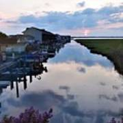 Sunset View At The Art League Of Ocean City - Maryland Art Print