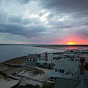Sunset View From Sandy Neck Light Art Print