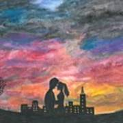 Sunset With You Art Print