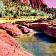 Sunset Zion National Park Art Print