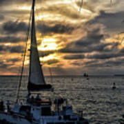 Sunsets And Sails Art Print