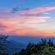 Sunset's Blue Hour Art Print