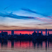 Sunsets Over Philly Art Print