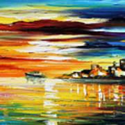 Sunset's Smile Art Print