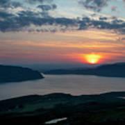 Sunsetting Over Portree, Isle Of Skye, Scotland. Art Print