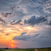 Sunshine And Storm Clouds Art Print