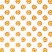 Sunshine Daisy Repeat Art Print