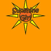 Sunshine Girl Art Print