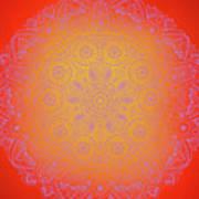 Sunshine Purple Mandala Art Print