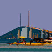 Sunshine Skyway Art Print