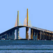 Sunshine Skyway Summer Art Print