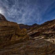 Sunstar Over Mosaic Canyon - Death Valley Art Print