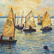 Sunwashed Sailors Art Print