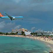 Sunwing Airline At Sxm Airport Art Print